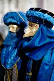 Venetian carnival costumes — Stock Photo