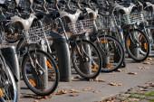 Rental bicycles — Stock Photo