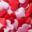 Mix of red and pink hearts — Stock Photo #65031869