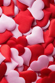 Mix of red and pink hearts — Stock Photo