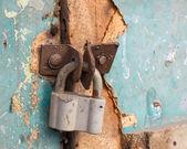 Old locked padlock — Stock Photo
