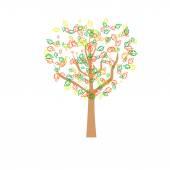 秋季抽象树 — 图库矢量图片