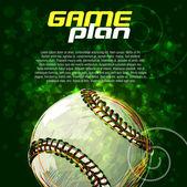 Baseball background — Stock Vector