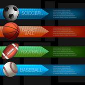 Sports Infographics Design — Stock Vector