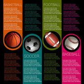 スポーツ インフォ グラフィック デザイン — ストックベクタ