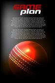 Cricket Ball — Stock Vector