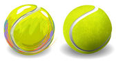 Tennis balls — Stock Vector