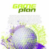 Golf background — Stock Vector