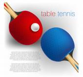 Table tennis background — Stockvector