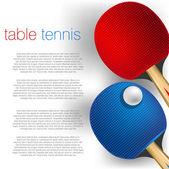 Table tennis background — Stock vektor