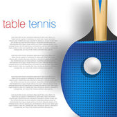 Table tennis background — Stock Vector
