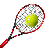 Tennis Racket and Ball — ストックベクタ