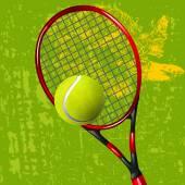 Tennis Racket and Ball — Stock Vector