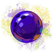 Bowling Ball — Stock Vector