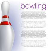 Bowling Pin — Stock Vector