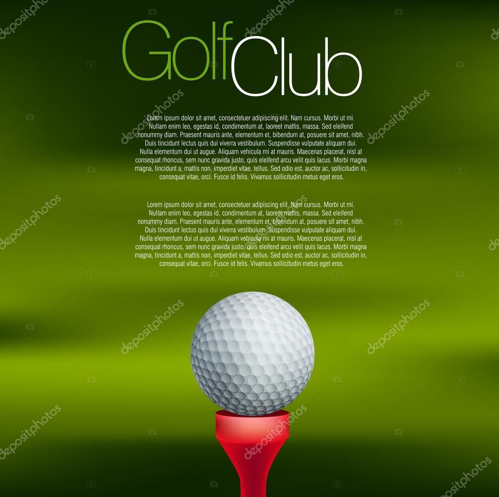 模糊的绿色背景上的高尔夫球场球