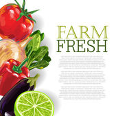 Fresh Vegetables background — Vecteur
