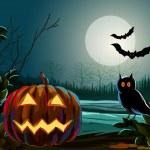 Spooky Halloween Background — Stock Vector #62432073