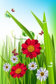 Beautiful Spring Background — Stock Vector