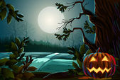 Spooky Halloween Background — Stockvector
