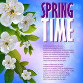 Fondo hermosa primavera — Vector de stock