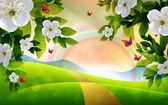 Fundo de linda Primavera — Vetor de Stock