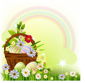 Easter Spring Background — Stock Vector