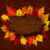 Beautiful Autumn Background — Stock Vector