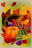 Beautiful Thanksgiving day card — Vector de stock