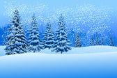 Schöne winterlandschaft — Stockvektor
