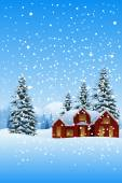 Beautiful Winter Landscape — Stock Vector