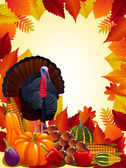 Beautiful Thanksgiving day card — Stock Vector