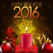 2016, happy New Year — Vecteur