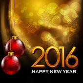 2016, Happy New Year — Stock Vector