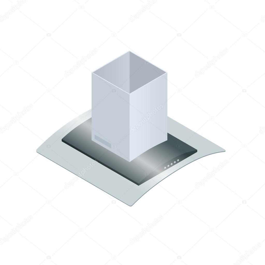 abzugshaube für die küche-vektor-illustration isoliert auf weißem