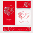 Valentines day background  - Stylish banners - vector illustrati — Stock Vector #63984899