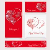 Valentines day background  - Stylish banners - vector illustrati — Stock Vector