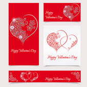 Happy Valentine's Day Greeting card - vector illustration — Stock vektor