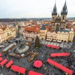 Christmas Market in the Old Town Square, Prague - arial view — Stock Photo #61879633