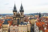 A view of the Church of Virgin Maria Before Tyn  in Prague, Czech Republic — Stok fotoğraf