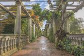 Pergola in autumn park — Stock Photo