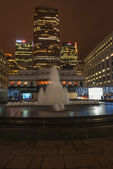 Cabot Square in Docklands, London, UK — Stock Photo