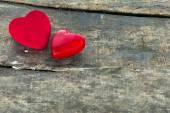 Red Valentine hearts - symbol of love — Stock Photo