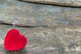 Red Valentine heart - symbol of love — Stock Photo
