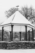 Winter pergola covered in snow — Stock Photo