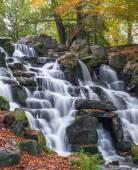 Colorful scenic Cascade in Virginia Water Park, U — Stock Photo
