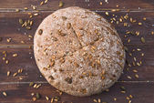 Home baked wholemeal bread — Foto Stock