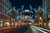 Christmas decorations on Regent Street, London, UK — Stock Photo