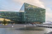 Harpa Concert Hall in Reykjavik harbor, Iceland — Stock Photo