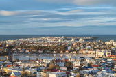 Reykjavik, Iceland - arial view — Stock Photo